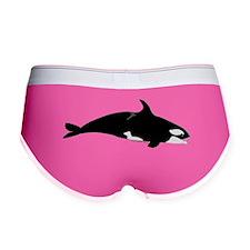 Biting Orca Whale Women's Boy Brief