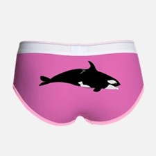 Biting Orca Whale Women's Boy Brief