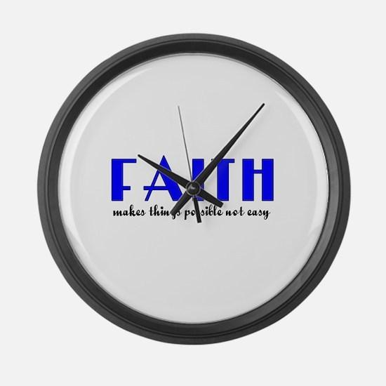 FAITH Large Wall Clock