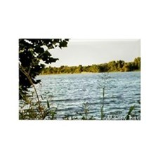 A Bay City River View Rectangle Magnet