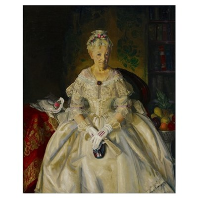 Mrs. T. in Cream Silk, No.2, 1920 Poster