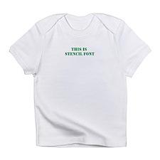 stencil font Infant T-Shirt