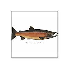 Coho Silver Salmon Rectangle Sticker