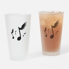 Flying Notes Drinking Glass