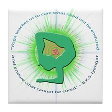 Iyengar Quote Tile Coaster