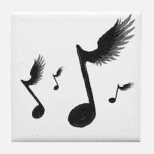 Flying Notes Tile Coaster