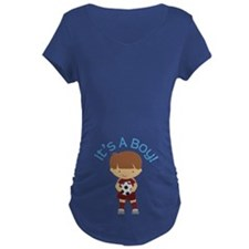 Soccer Player Its A Boy Maternity T-Shirt