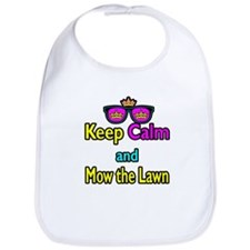 Crown Sunglasses Keep Calm And Mow The Law Bib