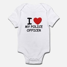 I love police officers Infant Bodysuit