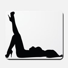 Sexy woman in heels posing on the floor Mousepad