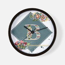 Dreamland Monogram B Wall Clock