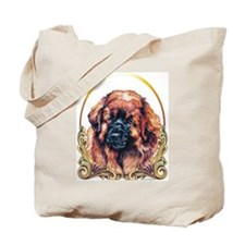 Leonberger Holiday/Christmas Gold Tote Bag