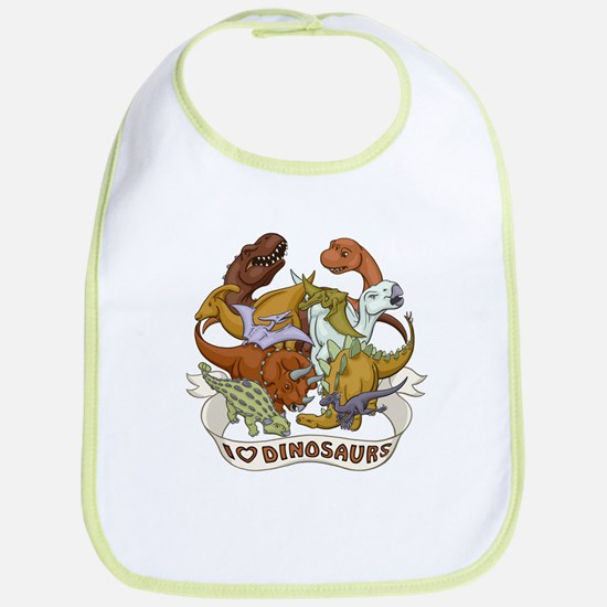 I Heart Dinosaurs Bib