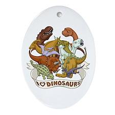 I Heart Dinosaurs Ornament (Oval)
