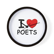 I love poets Wall Clock