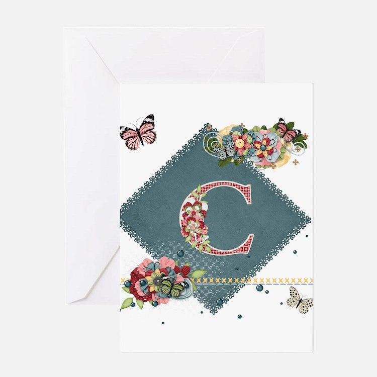 Dreamland Monogram C Greeting Card