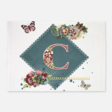 Dreamland Monogram C 5'x7'Area Rug
