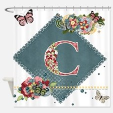 Dreamland Monogram C Shower Curtain