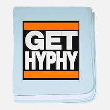 get hyphy lg orange baby blanket