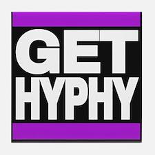 get hyphy lg purple Tile Coaster