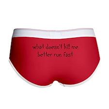 what doesnt kill me better run fast-red Women's Bo