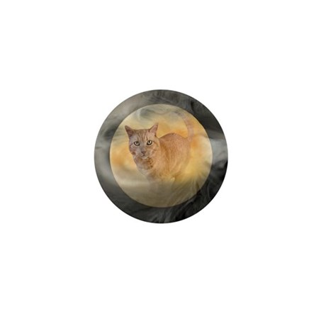 Cat in Moon Mini Button (10 pack)