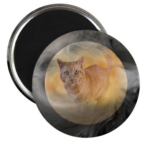 Cat in Moon Magnet
