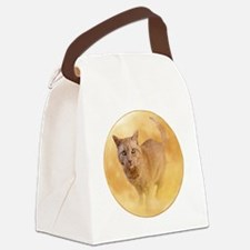 Cat in Moon Canvas Lunch Bag