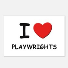 I love playwrights Postcards (Package of 8)