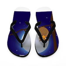 Owl Moonlight Flip Flops
