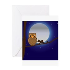 Owl Moonlight Greeting Card