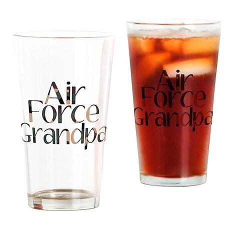 AF Grandpa Camo Drinking Glass