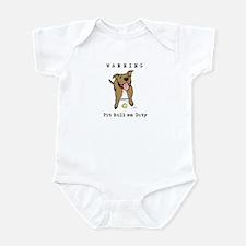 Cute Pit Bull Warning Infant Bodysuit