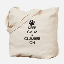 Keep Calm & Clumber On - paw Tote Bag