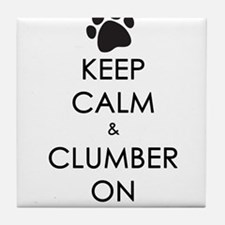 Keep Calm & Clumber On - paw Tile Coaster