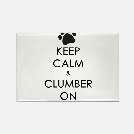 Keep Calm & Clumber On - paw Rectangle Magnet