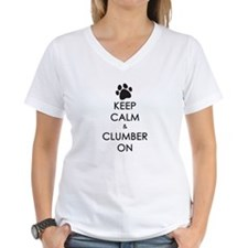 Keep Calm & Clumber On - paw Shirt