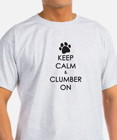 Keep Calm & Clumber On - paw T-Shirt