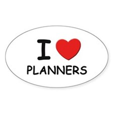 I love planners Oval Decal