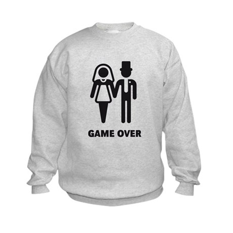 Game Over (Wedding / Marriage) Kids Sweatshirt