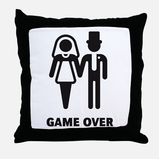 Game Over (Wedding / Marriage) Throw Pillow