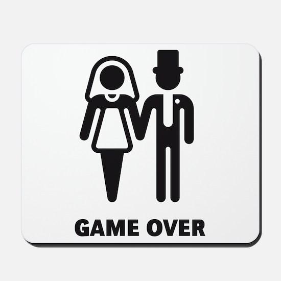 Game Over (Wedding / Marriage) Mousepad