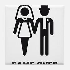 Game Over (Wedding / Marriage) Tile Coaster