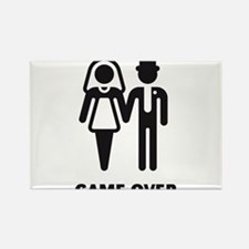 Game Over (Wedding / Marriage) Rectangle Magnet