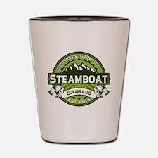 Steamboat Green Shot Glass