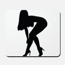 Sexy woman in heels bending over Mousepad