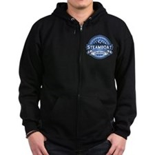 Steamboat Blue Zip Hoody