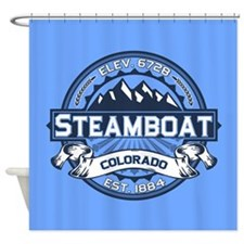 Steamboat Blue Shower Curtain