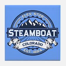 Steamboat Blue Tile Coaster