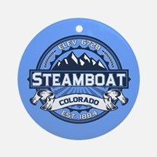 Steamboat Blue Ornament (Round)